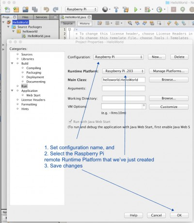 Adjust your remote runtime environment in NetBeans